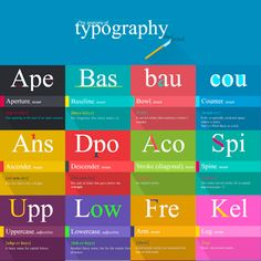 A beautifully illustrated guide to understanding typography terms and words http://ow.ly/Sn7US
