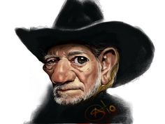 Willie Nelson-where is your long hair or braids ? irs- caricature