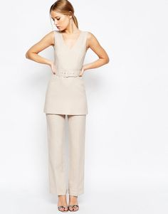 Pin for Later: The Ultimate Guide to Wedding Dress Codes — and 46 Looks Perfect For the Occasion  Asos Jumpsuit with Tunic Detail ($89)