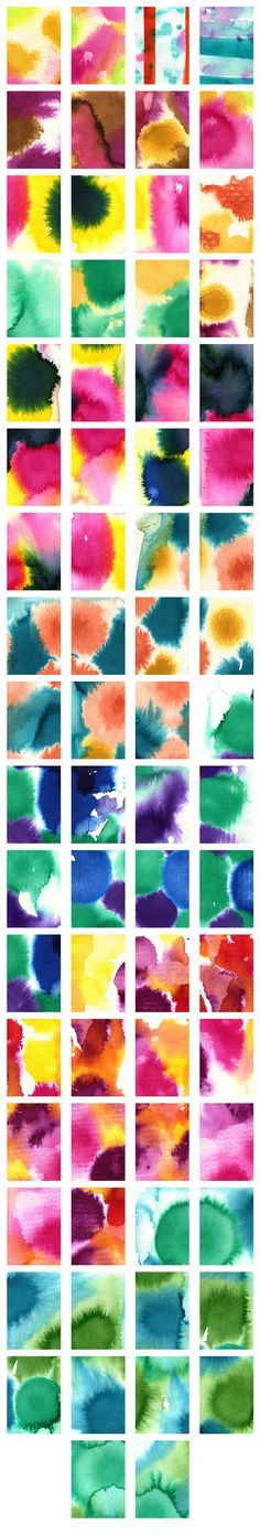 Gorgeous Water Colour Backgrounds by Zoë Ingram