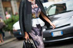 Milan Fashion Week Spring 2014 Street Style - Milan Fashion Week Spring 2014 Street Style, Day 1