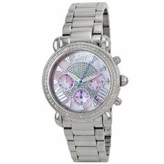 "JBW-Just Bling Women's JB-6210-F ""Victory"" Pink Stainless Steel Diamond Watch"