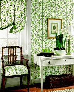 Covington wallpaper and fabric from #Canterbury #Thiabut