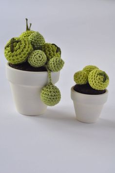 Cactus all'uncinetto // #Crochet cactus - di MaryDesign via it.dawanda.com