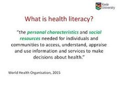 Image result for health literacy posters What Is Health, Health Literacy, Health World, World Health Organization, Posters, How To Make, Image, Poster, Billboard