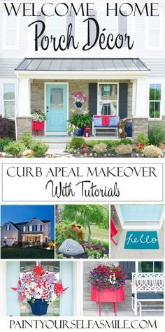 Porch Décor, Landscape lighting & Final reveal of the 5 week curb appeal challenge with links to all the tutorials