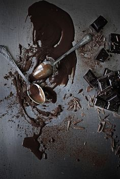 This is just what my ben h looks like eveyrtime i work.with chocolate :/  Chocolate by Mónica Isa Pinto, via Flickr