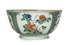 A famille verte punchbowl, Kangxi period