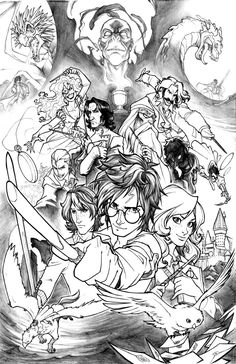 Free Coloring Page Adult Harry Potter Drawing To Print And Color Inspired By With All The Main Characters Including Famous