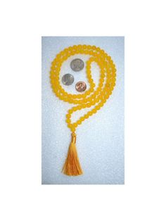 Yellow Jade Prayer Beads Japa Mala Necklace by AWAKENYOURKUNDALINI