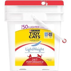 Purina Tidy Cats LightWeight Clumping Litter, 24/7 Performance for Multiple Cats, 12 lb. Pail
