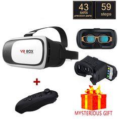 12536edbf0e HOT Virtual Reality VR BOX 2.0 II 3D Glasses Xiaozhai VR Google cardboard Helmet  3D Video Headset Glasses+Bluetooth Gamepad 5.0