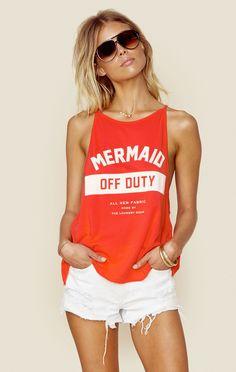 MERMAID OFF DUTY TANK   @ShopPlanetBlue
