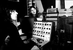 "Rick Wright & David Gilmour : Pink Floyd ""Obscured By Clouds"" sessions, 1972. Photos by Jean-Denis Mahn."