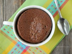 This chocolate mug cake is moist and rich and takes just minutes to make!