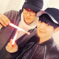 """Chanyeol and Zitao - """"TVXQ 콘서트!! 화이팅!!"""" [TRANS] TVXQ Concert!! Hwaiting!!   141206 real__pcy Instagram Update"""