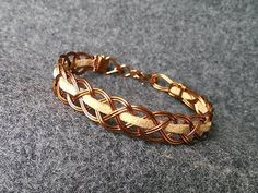 Bracelet wire knot with leather cord - wire wrap jewelry making 220 - YouTube