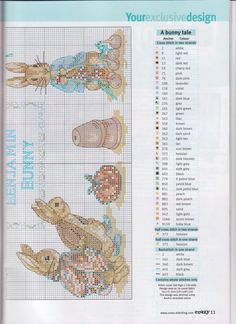 Cross Stitch Crazy 113 2008 - Peter Rabbit Collection