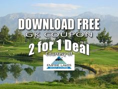 Empire Lakes Golf Club Tee Times 2 for 1 Deal.  Golf course special in the Inland Empire