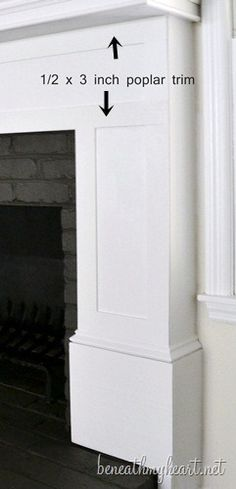 How to build a Fireplace Surround | Beneath My Heart - plus dark grey painted brick