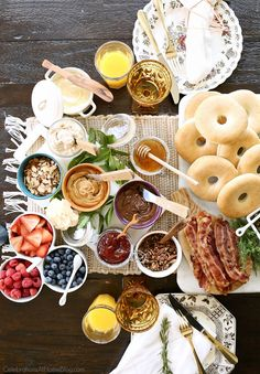 Diy bagel bar bagel bar pattern flower and color patterns host the ultimate bagel bar brunch and include these toppings for a sweet dessert bagel solutioingenieria Image collections