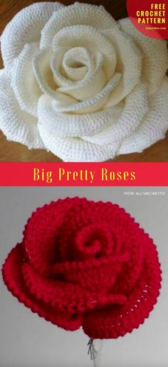 Big Pretty Roses [Free Crochet] | DIY