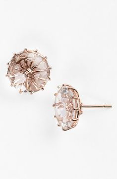 KALAN by Suzanne Kalan 14K Rose Gold Stud Earring with Rose De France Center - The Perfect Everyday Earring! available at #Nordstrom