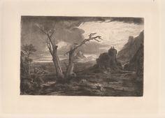 Washington Allston - The Prophet Elijah - Etching by Kimbery #Washington Allston #allston #etching #print