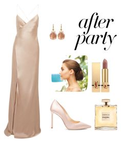 """Always red carpet"" by celine46 on Polyvore featuring Michelle Mason, Jimmy Choo, Yves Saint Laurent and Chanel"