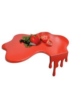 Red splash kitchen chopping board