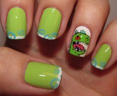 Reptar nails! I'm a Nickelodeon child :)