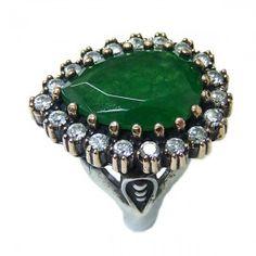 Twinkling Rectangle Amethyst /& White Topas Edelstein Silber überzogener Ring