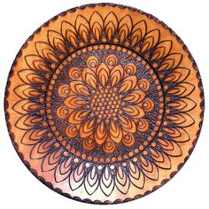 Floral Design Burned Wood Mandala - This one is for sale at the shop Gypsy By The Lake on Etsy. http://www.etsy.com/listing/100919483/floral-mandala-burned-design-wooden