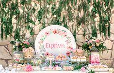 Παραμυθένια κοριτσίστικη βάπτιση με θέμα floral blossom - EverAfter Baptism Decorations, Table Decorations, Baby Girl Baptism, Christening Invitations, Martini, Bloom, Girly, Baby Shower, Birthday