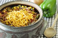 Vegetarian Chili, great healthy recipe, great to freeze leftovers, easy to make, goes great with the whole grain quick bread recipe Whole Grain Quick Bread Recipe, Quick Bread Recipes, Chili Recipes, Slow Cooker Recipes, Soup Recipes, Vegetarian Chili, Vegetarian Recipes, Healthy Recipes, Chili Food