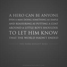 Anyone Can Be Hero -The Dark Knight Rises