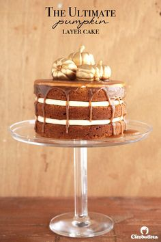 The Ultimate Pumpkin Layer Cake - Brown butter in both the cake & cream cheese frosting and a drizzle of cinnamon caramel, take the fall favorite to another level with caramel & spice undertones in every bite.