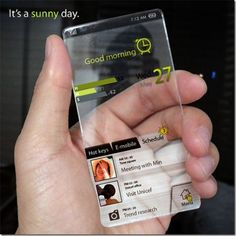 Cool phone of the future!    I'm sure we'll see it at some point. But can you imagine the tech leap this will take.
