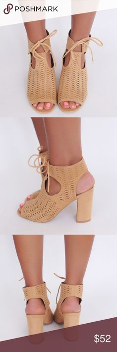 COMING SOON  Tan Lace Up Block Heel Sandal These are definitely my favorite boho shoe style for this summer! So versatile so it can be worn to work, dinners, day or night BBQ's etc! Comes in sizes 5, 5.5, 6, 6.5, 7, 7.5, 8, 8.5, 9, 10. COMMENT TO BE TAGGED for its arrival on 6/15 Shoes Heels