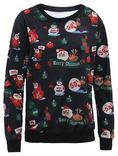 Santa Claus and Snowman 3D Print Sweatshirt #men, #hats, #watches, #belts, #fashion