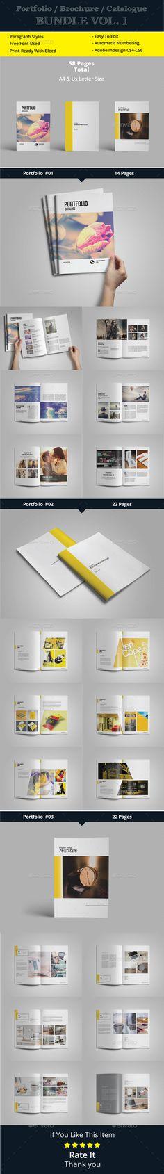 Portfolio / Catalogue / Brochure Bundle Vol. 1  — InDesign Template #minimal #interior design • Download ➝ https://graphicriver.net/item/portfolio-catalogue-brochure-bundle-vol-1/18329647?ref=pxcr