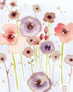 """""""The little details around the flowers are what make this so perfect to me. And the palette is beautiful."""""""