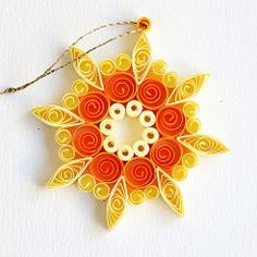 8 point open circle yellow mix quilled snowflake | Flickr - Photo Sharing!