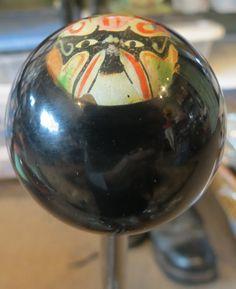 Vintage Painted Noh Japanese Wrestling Mask Shift Knob - HouseOspeed - Hot Rod Shift Knob