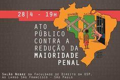 AO VIVO: Ato público em SP contra a redução da maioridade penal