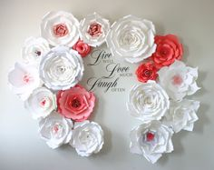 Paper Flower Backdrop Paper Flower Wedding о CandyTreeBaltimore