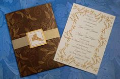 Gold Mallorn Leaf, Elven, Autumn, LOTR Invitation, Reply card, and ...