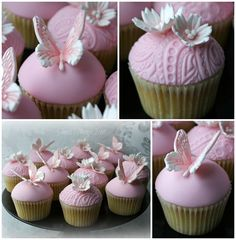 Butterfly & Daisy/Paisley Cupcakes