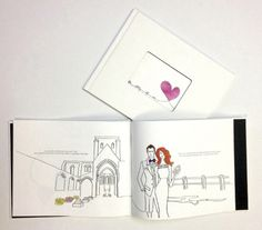 An original penned and illustrated wedding book as a #wedding gift!