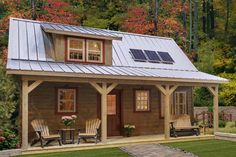 Off-Grid Living Simplicity - A 608 Sq. Foot Cabin That Rocks! Off-Grid Living Simplicity - A 608 Sq. Cabin House Plans, Tiny House Cabin, Log Cabin Homes, Small House Plans, Small Log Cabin, Tiny Cabins, Cabins And Cottages, Building A Small Cabin, Amish Cabins